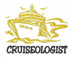 Cruiseologist embroidery design