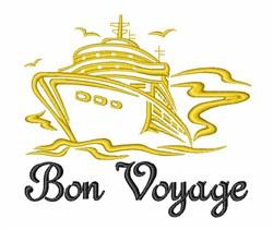 Bon Voyage Ship embroidery design