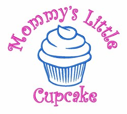 Mommys Little Cupcake embroidery design