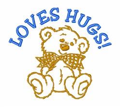 Bear Loves Hugs embroidery design