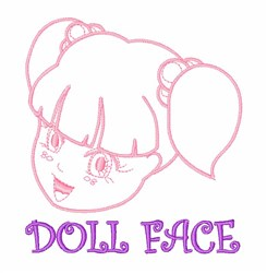 Baby Doll Face embroidery design