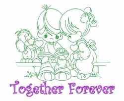 Children Together Forever embroidery design