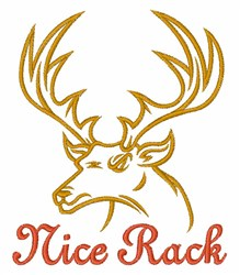 Buck Nice Rack embroidery design