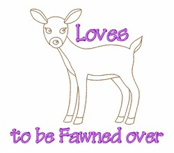 Loves Fawned Deer embroidery design