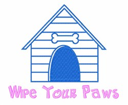 Dog House Paws embroidery design