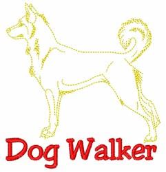Alaskan Malamute Walker embroidery design