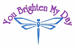 Dragonfly Brighten Day embroidery design