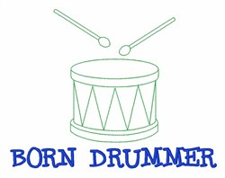 Drummer Sticks Music embroidery design