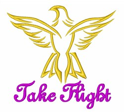 Eagle Take Flight embroidery design