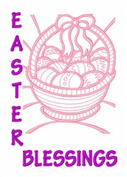 Easter Egg Basket embroidery design