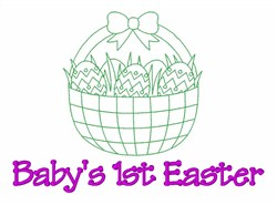 Babys 1st Easter embroidery design