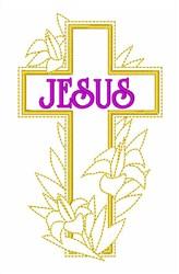 Easter Jesus Cross embroidery design