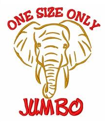 Jumbo African Elephant  embroidery design
