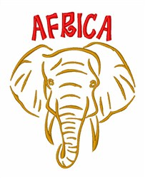 African Elephant embroidery design