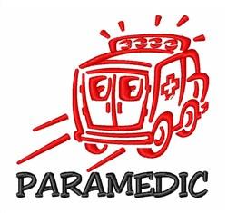 Ambulance Paramedic embroidery design