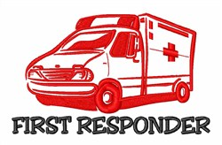 First Responder embroidery design