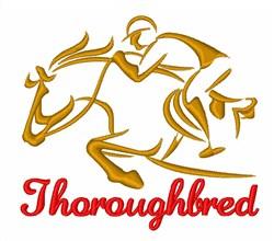 Horse Racing Jockey embroidery design
