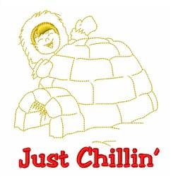 Baby Eskimo Chillin embroidery design