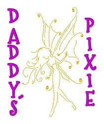 Daddys Pixie embroidery design