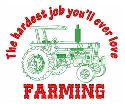 I Love Farming  embroidery design