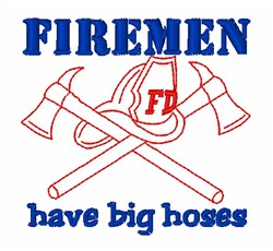 Firefighter Occupational Tools Helmet Axe embroidery design