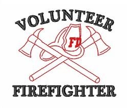 Volunteer Firefighter embroidery design
