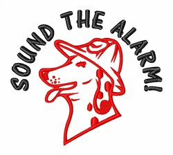 Sound The Fire Alarm embroidery design