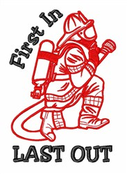 Firefighters American Heroes embroidery design