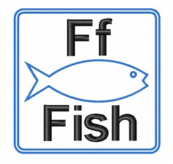 F Is For Fish embroidery design