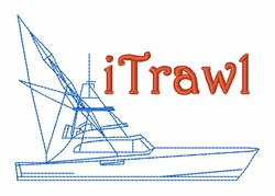 Fishing Boat iTrawl embroidery design