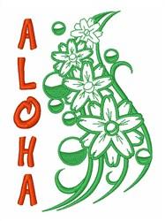 Aloha Hawaiin Floral embroidery design