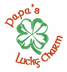 Papas Lucky Charm embroidery design