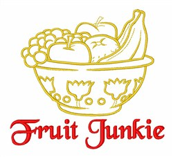 Fruit Junkie embroidery design