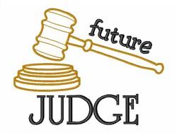 Future Judge embroidery design