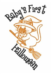 Babys First Halloween embroidery design