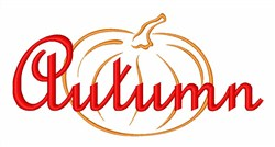 Fall Harvest Pumpkin embroidery design