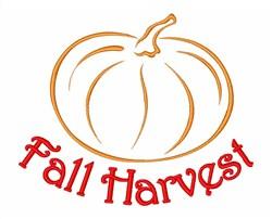 Fall Harvest Pumpkin embroidery design