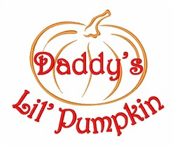 Daddys Lil Pumpkin embroidery design