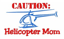 Helicopter Fly Pilot embroidery design