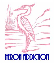 Heron Addiction embroidery design