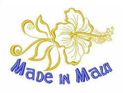 Hibiscus Made In Maui embroidery design