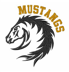 Mustang Horse Head embroidery design