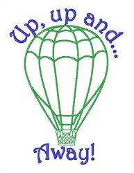 Up, Up And Away! embroidery design