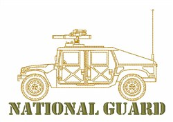 National Guard Hummer embroidery design