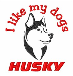 Siberian Husky Dog embroidery design