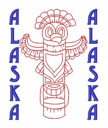 Alaskan Totem Pole embroidery design