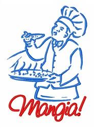Italian Chef Pizza embroidery design