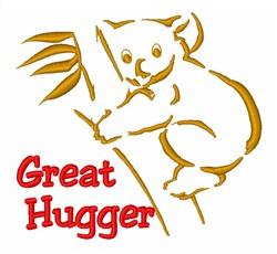 Koala Great Hugger embroidery design