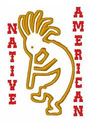 Kokopelli Native American embroidery design
