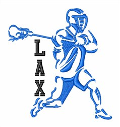 LAX Lacrosse Player embroidery design
